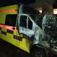 В Экибастузе загорелась машина скорой помощи