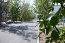 Участок дороги на улице Аймауытова после ремонта остался без освещения