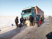 Дальнобойщика из России спасли от морозов в Успенском районе