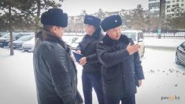 Местная полиция просит павлодарских бизнесменов своевременно убирать снег с прилегающих территорий