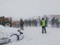 Десять машин столкнулись в ДТП на трассе в Павлодарской области