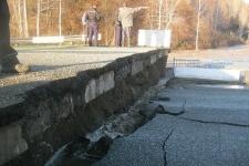 В ВКО паводки разрушили мост через реку