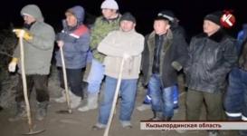 Вышедшая из берегов Сырдарья затопила село Ботабай