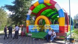 Работу детских батутов приостанавливают в парках Павлодара