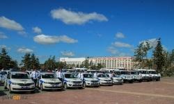 62 новых авто получили павлодарские полицейские