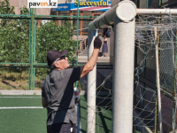 Спортивные площадки и тренажеры ремонтируют в Павлодаре