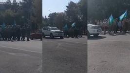 Бывшие десантники прошлись маршем и получили штрафы в Павлодаре