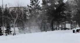 Белым снегом замело наш любимый город...