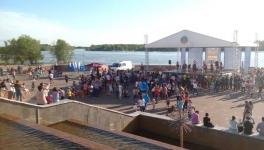 Тысячи талантливых павлодарцев открыли молодежный Арбат на набережной