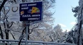 Лингвисты не увидели дискриминации мужчин в баннерах об алиментах в Алматы