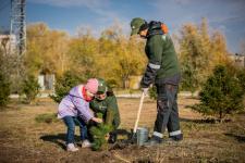 В Аксу заводчане продолжают старую добрую традицию - высаживать деревья
