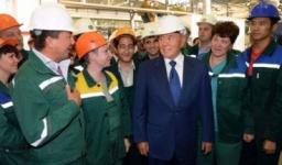 Н.Назарбаев посетил ТОО «Проммашкомлект» и музыкальную школу им М.Глинки в Экибастузе
