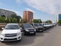 В Павлодаре в День государственного служащего сельским акиматам подарили автомобили