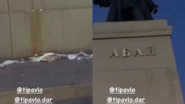 Закидавший яйцами памятник Абаю павлодарец извинился перед казахстанцами