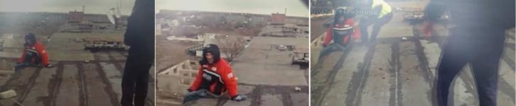 Полицейские города Аксу спасли горожанина, пытавшегося спрыгнуть с крыши