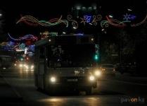 В новогоднюю ночь в Павлодаре будут ходить автобусы и трамваи