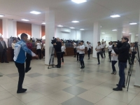 Ученики 43-х школ Павлодара одновременно приняли участие в утренней разминке
