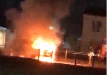 Автомобиль на газовом топливе сгорел в Павлодаре