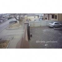 Авария по улице Ленина попала на камеры видеонаблюдения