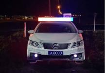 В Прииртышье на ремонтных участках дороги можно встретить макеты полицейских машин