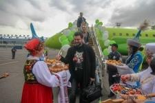 В Павлодаре торжественно проводили и встретили первых пассажиров нового рейса
