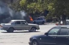 Второй автомобиль за день загорелся в Павлодаре