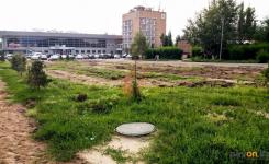 В районе речного вокзала в Павлодаре начали реконструкцию сквера