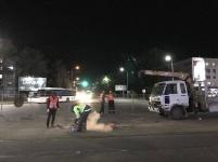 В Павлодаре ремонтируют трамвайное полотно на перекрестке Лермонтова-Кутузова