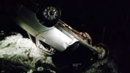 В результате опрокидывания авто на трассе Павлодарской области четыре человека получили травмы