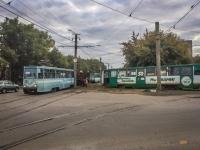 В Павлодаре сошедший с рельс трамвай заблокировал утреннее движение вагонов с ТЭЦ-1