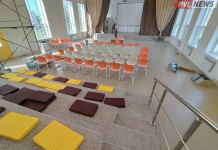 В старейшей казахской школе Павлодара построили современный актовый зал
