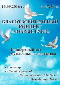 """Благотворительный концерт """"Добрые руки"""""""