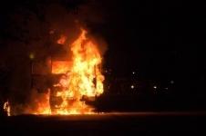 В городе Аксу в кабине КАМАЗа сгорел ребенок