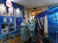 Павлодарские работники станции скорой помощи получили в подарок дополнительные средства индивидуальной защиты