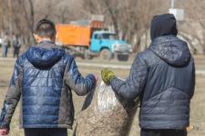 В Павлодаре собранный после субботника пластик передадут на переработку