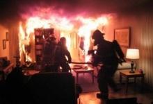Сгорел в квартире