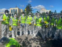 В карантинные выходные в Павлодаре проводят большую дезинфекционную обработку города