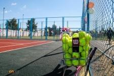 Павлодарские полицейские презентовали универсальный теннисный корт