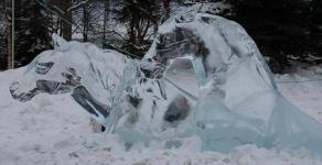 Табун лошадей нашли вмерзшим в озеро в Павлодарской области