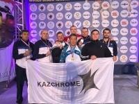 На мировом первенстве по гиревому спорту заводчане из Аксу помогли команде Казахстана занять второе место