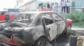 Неизвестные сожгли внедорожник бизнесмена в Павлодаре