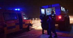 Экибастузские спасатели провели операцию по эвакуации роженицы из снежного заноса