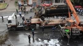 У сгоревшего в Алматы бензовоза был неисправен горный тормоз