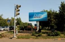 Вдоль трамвайного полотна по улице Кутузова начали создавать мини-парки