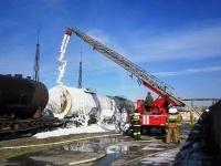 Пожар на складе ГСМ Аксуского завода ферросплавов
