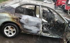 Легковая машина сгорела в Павлодаре