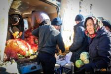 На праздничной сельхозярмарке в Павлодаре бесплатно раздавали капусту