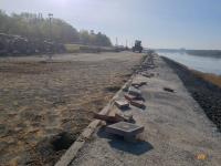 Ремонтные работы на новой набережной продлятся до конца мая