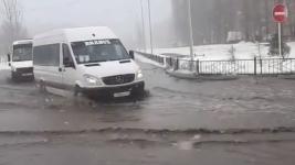 Непогода устроила в Павлодаре настоящее светопреставление