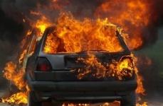В Павлодарской области сгорела еще одна машина немецкой марки